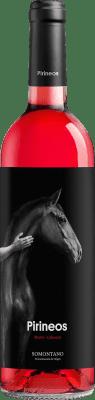 8,95 € Free Shipping | Rosé wine Pirineos Tempranillo-Cabernet D.O. Somontano Aragon Spain Tempranillo, Cabernet Sauvignon Bottle 75 cl