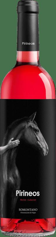 7,95 € Free Shipping | Rosé wine Pirineos Tempranillo-Cabernet D.O. Somontano Aragon Spain Tempranillo, Cabernet Sauvignon Bottle 75 cl