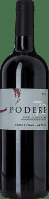 16,95 € Free Shipping | Red wine Poderi San Lazzaro Podere 72 D.O.C. Rosso Piceno Marche Italy Sangiovese, Montepulciano Bottle 75 cl