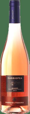 9,95 € Kostenloser Versand | Rosé-Wein Poggio al Tesoro Cassiopea D.O.C. Bolgheri Toskana Italien Merlot, Cabernet Franc Flasche 75 cl
