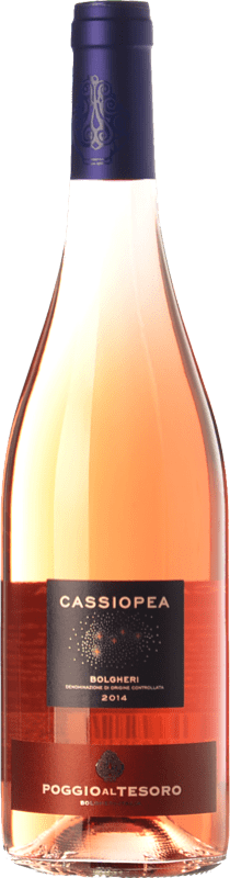 9,95 € Free Shipping   Rosé wine Poggio al Tesoro Cassiopea D.O.C. Bolgheri Tuscany Italy Merlot, Cabernet Franc Bottle 75 cl