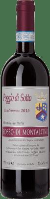 73,95 € Free Shipping | Red wine Poggio di Sotto D.O.C. Rosso di Montalcino Tuscany Italy Sangiovese Bottle 75 cl