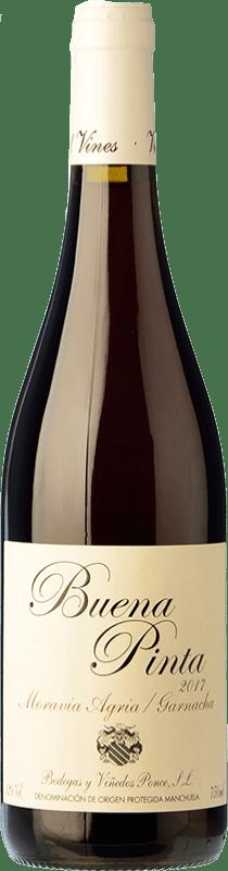 16,95 € Free Shipping | Red wine Ponce Buena Pinta Joven D.O. Manchuela Castilla la Mancha Spain Grenache, Moravia Agria Bottle 75 cl