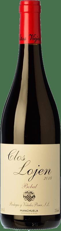 9,95 € Envío gratis | Vino tinto Ponce Clos Lojen Joven D.O. Manchuela Castilla la Mancha España Bobal Botella 75 cl