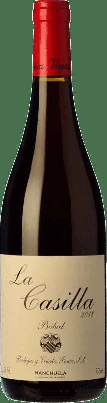 15,95 € Envío gratis | Vino tinto Ponce J. Antonio La Casilla Crianza D.O. Manchuela Castilla la Mancha España Bobal Botella 75 cl