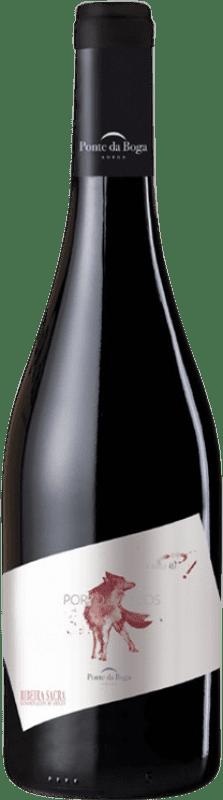24,95 € Free Shipping | Red wine Ponte da Boga Porto de Lobos Crianza D.O. Ribeira Sacra Galicia Spain Brancellao Bottle 75 cl