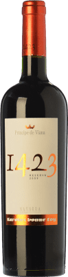 17,95 € Free Shipping | Red wine Príncipe de Viana 1423 Reserva D.O. Navarra Navarre Spain Tempranillo, Merlot, Grenache, Cabernet Sauvignon Bottle 75 cl