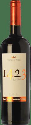 14,95 € Envío gratis | Vino tinto Príncipe de Viana 1423 Reserva D.O. Navarra Navarra España Tempranillo, Merlot, Garnacha, Cabernet Sauvignon Botella 75 cl