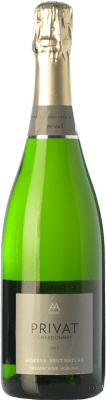 13,95 € Free Shipping | White sparkling Privat Brut Nature Reserva D.O. Cava Catalonia Spain Chardonnay Bottle 75 cl | Thousands of wine lovers trust us to get the best price guarantee, free shipping always and hassle-free shopping and returns.