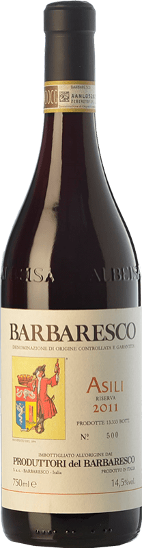 43,95 € Envío gratis | Vino tinto Produttori del Barbaresco Asili D.O.C.G. Barbaresco Piemonte Italia Nebbiolo Botella 75 cl