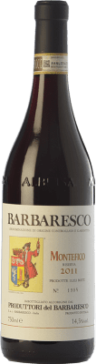 53,95 € Envío gratis | Vino tinto Produttori del Barbaresco Montefico D.O.C.G. Barbaresco Piemonte Italia Nebbiolo Botella 75 cl