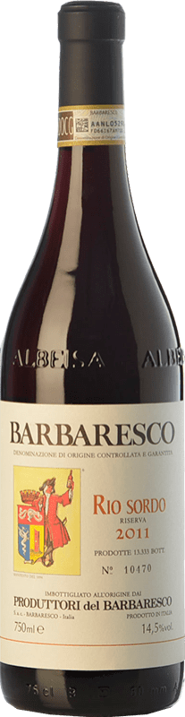 42,95 € Envío gratis | Vino tinto Produttori del Barbaresco Rio Sordo D.O.C.G. Barbaresco Piemonte Italia Nebbiolo Botella 75 cl