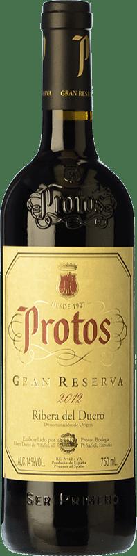 38,95 € Envío gratis | Vino tinto Protos Gran Reserva D.O. Ribera del Duero Castilla y León España Tempranillo Botella 75 cl