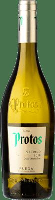 6,95 € 免费送货 | 白酒 Protos D.O. Rueda 卡斯蒂利亚莱昂 西班牙 Verdejo 瓶子 75 cl | 成千上万的葡萄酒爱好者信赖我们,保证最优惠的价格,免费送货,购买和退货,没有复杂性.