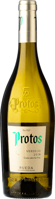6,95 € Envio grátis | Vinho branco Protos D.O. Rueda Castela e Leão Espanha Verdejo Garrafa 75 cl | Milhares de amantes do vinho confiam em nós com a garantia do melhor preço, envio sempre grátis e compras e devoluções sem complicações.