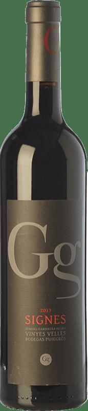 9,95 € Free Shipping | Red wine Puiggròs Signes Crianza D.O. Catalunya Catalonia Spain Grenache, Sumoll Bottle 75 cl