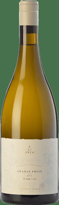 89,95 € Envío gratis | Vino blanco Pujanza Añadas Frías Crianza D.O.Ca. Rioja La Rioja España Viura Botella 75 cl