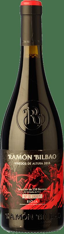 13,95 € Free Shipping | Red wine Ramón Bilbao Viñedos de Altura Crianza D.O.Ca. Rioja The Rioja Spain Tempranillo, Grenache Bottle 75 cl