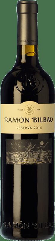 14,95 € Spedizione Gratuita | Vino rosso Ramón Bilbao Reserva D.O.Ca. Rioja La Rioja Spagna Tempranillo, Graciano, Mazuelo Bottiglia 75 cl