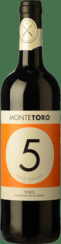 9,95 € Envío gratis | Vino tinto Ramón Ramos Monte Toro Roble D.O. Toro Castilla y León España Tinta de Toro Botella 75 cl