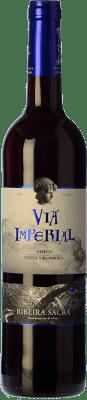 8,95 € Envío gratis | Vino tinto Regina Viarum Vía Imperial Joven D.O. Ribeira Sacra Galicia España Mencía Botella 75 cl