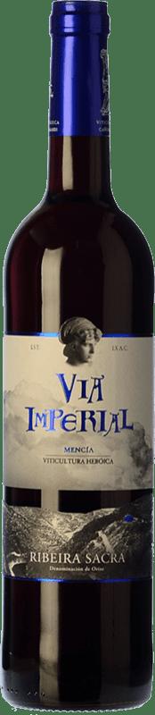 7,95 € Free Shipping | Red wine Regina Viarum Vía Imperial Joven D.O. Ribeira Sacra Galicia Spain Mencía Bottle 75 cl
