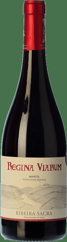 10,95 € Free Shipping | Red wine Regina Viarum Joven D.O. Ribeira Sacra Galicia Spain Mencía Bottle 75 cl