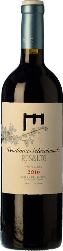 13,95 € Envío gratis | Vino tinto Resalte Vendimia Seleccionada Joven D.O. Ribera del Duero Castilla y León España Tempranillo Botella 75 cl