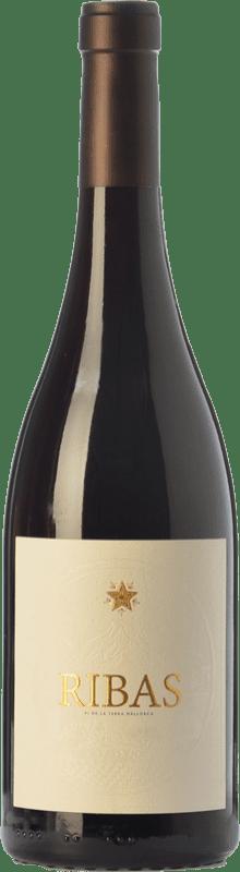 14,95 € Free Shipping | Red wine Ribas Negre Crianza I.G.P. Vi de la Terra de Mallorca Balearic Islands Spain Merlot, Syrah, Cabernet Sauvignon, Mantonegro Bottle 75 cl