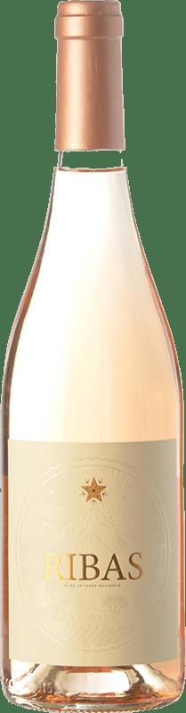 13,95 € Free Shipping | Rosé wine Ribas Rosat I.G.P. Vi de la Terra de Mallorca Balearic Islands Spain Callet, Mantonegro, Gargollassa Bottle 75 cl