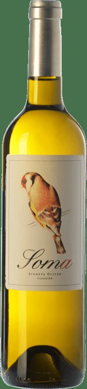 17,95 € Free Shipping | White wine Ribas Soma Crianza I.G.P. Vi de la Terra de Mallorca Balearic Islands Spain Viognier Bottle 75 cl