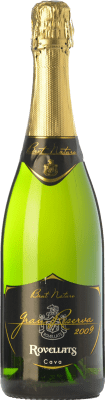 15,95 € Free Shipping | White sparkling Rovellats Brut Nature Gran Reserva 2011 D.O. Cava Catalonia Spain Macabeo, Xarel·lo, Parellada Bottle 75 cl. | Thousands of wine lovers trust us to get the best price guarantee, free shipping always and hassle-free shopping and returns.