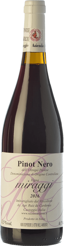 11,95 € Envoi gratuit | Vin rouge Ruiz de Cardenas Miraggi I.G.T. Provincia di Pavia Lombardia Italie Pinot Noir Bouteille 75 cl