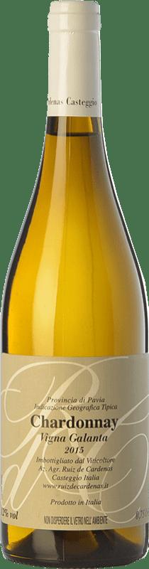 8,95 € Free Shipping | White wine Ruiz de Cardenas Vigna Galanta I.G.T. Provincia di Pavia Lombardia Italy Chardonnay Bottle 75 cl