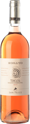9,95 € Free Shipping | Rosé wine San Felice Perolla Rosato I.G.T. Toscana Tuscany Italy Cabernet Sauvignon, Sangiovese, Ciliegiolo Bottle 75 cl