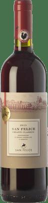 12,95 € Free Shipping | Red wine San Felice D.O.C.G. Chianti Classico Tuscany Italy Sangiovese, Colorino, Pugnitello Bottle 75 cl