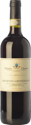 19,95 € Free Shipping | Red wine San Giusto a Rentennano D.O.C.G. Chianti Classico Tuscany Italy Sangiovese, Canaiolo Bottle 75 cl
