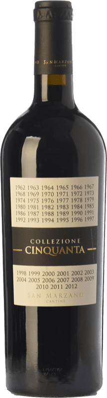 49,95 € Envoi gratuit | Vin rouge San Marzano Collezione Cinquanta I.G.T. Puglia Pouilles Italie Primitivo, Negroamaro Bouteille Magnum 1,5 L