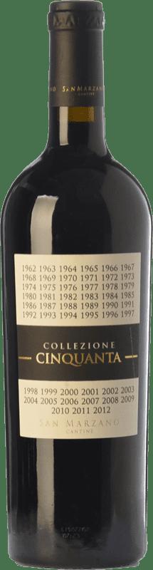 49,95 € Envío gratis | Vino tinto San Marzano Collezione Cinquanta I.G.T. Puglia Puglia Italia Primitivo, Negroamaro Botella Mágnum 1,5 L