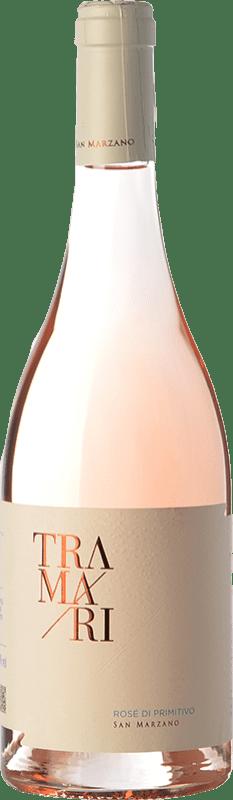 12,95 € Free Shipping | Rosé wine San Marzano Tramari Rosé di Primitivo I.G.T. Salento Campania Italy Primitivo Bottle 75 cl