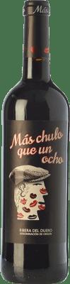 8,95 € Free Shipping | Red wine Santa Eulalia Más Chulo Que Un Ocho Joven D.O. Ribera del Duero Castilla y León Spain Tempranillo Bottle 75 cl