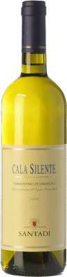 9,95 € Envío gratis | Vino blanco Santadi Cala Silente D.O.C. Vermentino di Sardegna Sardegna Italia Vermentino Botella 75 cl