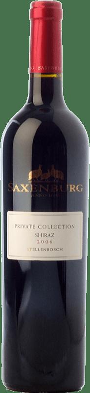 29,95 € Free Shipping | Red wine Saxenburg PC Shiraz Crianza I.G. Stellenbosch Stellenbosch South Africa Syrah Bottle 75 cl