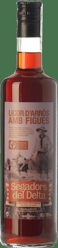 18,95 € Free Shipping | Liqueur Cream Segadors del Delta Licor d'Arròs amb Figues Catalonia Spain Bottle 70 cl