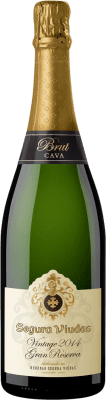 9,95 € Free Shipping | White sparkling Segura Viudas Vintage Brut Gran Reserva D.O. Cava Catalonia Spain Macabeo, Parellada Bottle 75 cl. | Thousands of wine lovers trust us to get the best price guarantee, free shipping always and hassle-free shopping and returns.
