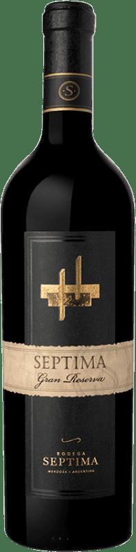 21,95 € Free Shipping | Red wine Séptima Gran Reserva I.G. Mendoza Mendoza Argentina Cabernet Sauvignon, Malbec, Tannat Bottle 75 cl