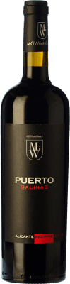 14,95 € Free Shipping | Red wine Sierra Salinas Puerto Joven D.O. Alicante Valencian Community Spain Cabernet Sauvignon, Monastrell, Grenache Tintorera, Petit Verdot Bottle 75 cl