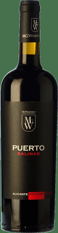 8,95 € Free Shipping | Red wine Sierra Salinas Puerto Joven D.O. Alicante Valencian Community Spain Cabernet Sauvignon, Monastrell, Grenache Tintorera, Petit Verdot Bottle 75 cl