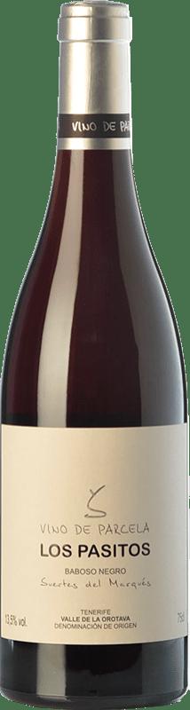 37,95 € Envío gratis | Vino tinto Soagranorte Suertes del Marqués Los Pasitos Crianza D.O. Valle de la Orotava Islas Canarias España Baboso Negro Botella 75 cl