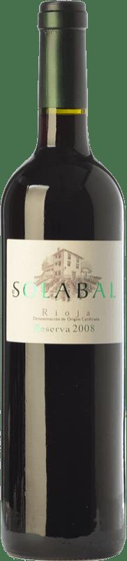 16,95 € Envoi gratuit   Vin rouge Solabal Reserva D.O.Ca. Rioja La Rioja Espagne Tempranillo Bouteille 75 cl